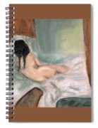 Sleeping In The Nude Spiral Notebook