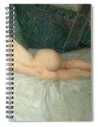 Sleeping Naked Woman Spiral Notebook