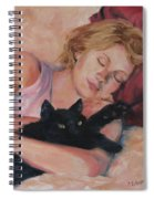 Sleeping With Fur Spiral Notebook