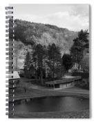 Sleepy Hollows Farm Woodstock Vermont Vt Pond Black And White Spiral Notebook