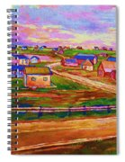 Sleepy Little Village Spiral Notebook