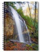 Slick Rock Falls, A North Carolina Waterfall In Autumn Spiral Notebook