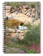 Slide Rock With Pink Wildflowers Spiral Notebook