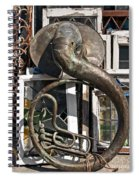 Slightly Worn Out Vintage Tuba Seeks New Home Spiral Notebook