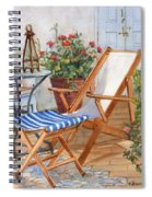 Sling Back Chair Spiral Notebook
