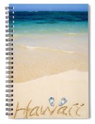 Slippers In The Sand Spiral Notebook