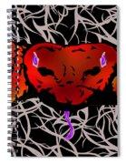 Slithering Blue Spiral Notebook