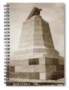 Sloat Monument On The Presidio Of Monterey Circa 1910 Spiral Notebook