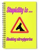 Sloshing Bigstock Donkey 171252860 Spiral Notebook