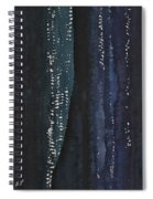 Slot Canyon In Moonlight Original Painting Spiral Notebook