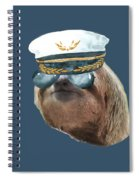 Sloth Aviator Glasses Captain Hat Sloths In Clothes Spiral Notebook