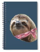 Sloth Black Glasses Red Scarf Sloths In Clothes Spiral Notebook