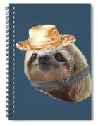 Sloth Monacle Straw Sloths In Clothes Spiral Notebook