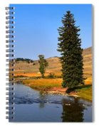 Slough Creek Afternoon Panrama Spiral Notebook