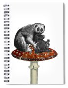 Slow Loris With Antique Camera Spiral Notebook
