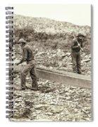 Sluice Box Placer Gold Mining C. 1889 Spiral Notebook
