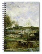 Sluice In The Optevoz Valley Spiral Notebook