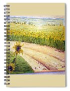 Slunecnice2 Spiral Notebook