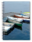 Small Boats Docked To A Pier Spiral Notebook