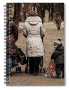 Small Child Looking Backward Spiral Notebook