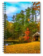 Small Covered Bridge Spiral Notebook