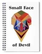 Small Face Of Devil Text Spiral Notebook
