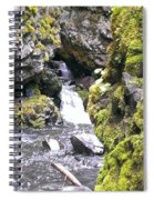 Small Falls At Boulder Cave Spiral Notebook