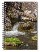 Small Falls Below Big Falls Spiral Notebook