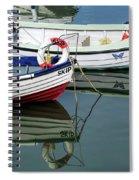 Small Skiffs - Lyme Regis Harbour Spiral Notebook