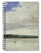 Small Sloop On Saco Bay Spiral Notebook