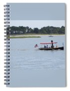 Small Stream Boat Spiral Notebook