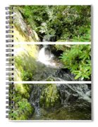 Small Waterfall Smoky Mountains Triptych Spiral Notebook