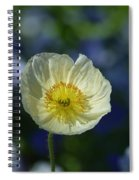 Small White Poppy Spiral Notebook
