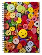Smiley Face Button Spiral Notebook