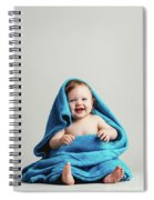Smiling Baby Tucked In A Warm Blanket Spiral Notebook
