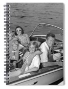 Smiling Family In Docked Boat, C.1960s Spiral Notebook