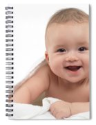 Smiling Four Month Old Baby Boy Spiral Notebook