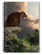 Smilodon Californicus Lookout Spiral Notebook