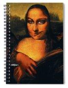 Smirking Mona Spiral Notebook