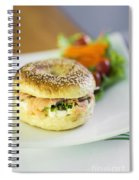 Smoked Salmon And Cream Cheese Bagel Spiral Notebook