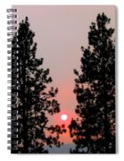 Smokey Okanagan Sunset Spiral Notebook