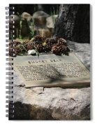Smokey The Bear Memorialized Spiral Notebook