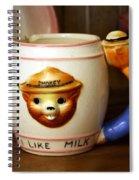 Smokey The Bear Mug Spiral Notebook