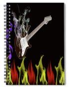 Smoking Guitar Spiral Notebook