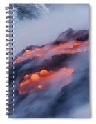Smoking Pahoehoe Lava Spiral Notebook