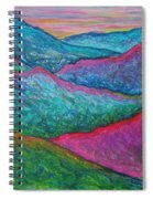Smoky Mountain Abstract Spiral Notebook
