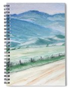 Smoky Mountains From Cades Cove Loop Spiral Notebook