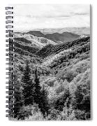 Smoky Mountains In Black And White Spiral Notebook