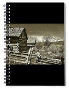 Smoky Mt Homestead - B W Spiral Notebook