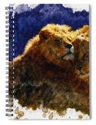 Smooching Lions Spiral Notebook